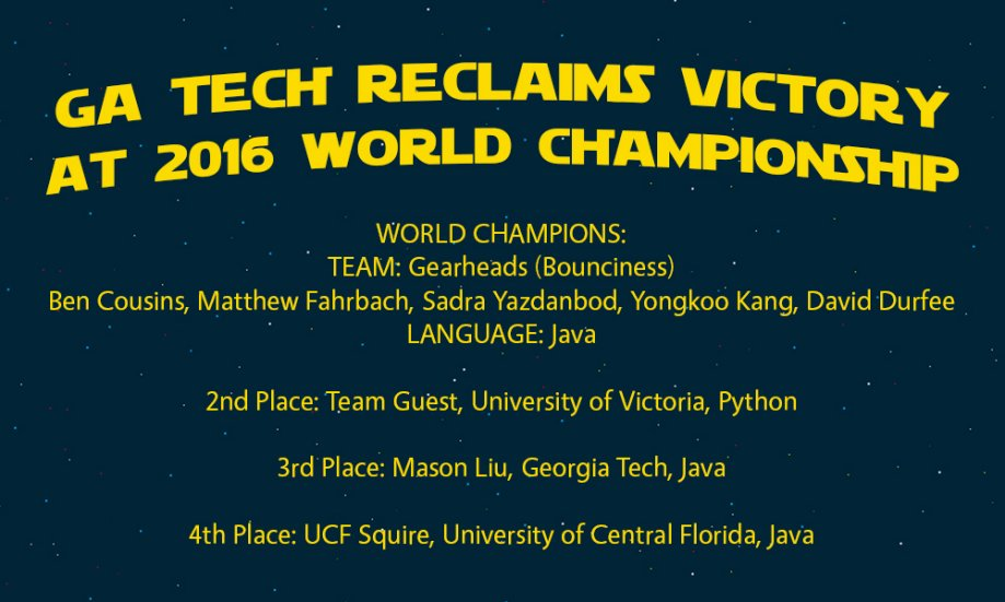 Georgia Tech is the World Champions